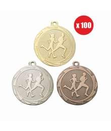 Pack de 100 Médailles Frappées 45mm Cross - BS.ME104.01 - BS.ME104.02 - BS.ME104.27 x100