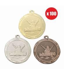 Pack de 100 Médailles Frappées 45mm Karting - BS.ME107.01 - BS.ME107.02 - BS.ME107.27 x100