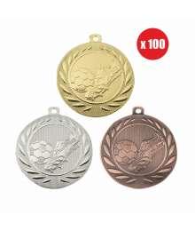 Pack de 100 Médailles Frappées 50mm Football - BS-DI5000.B.01 - BS-DI5000.B.02 - BS-DI5000.B.27 x100
