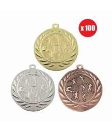 Pack de 100 Médailles Frappées 50mm Athlétisme - BS-DI5000.K.01 - BS-DI5000.K.02 - BS-DI5000.K.27 x100