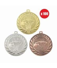 Pack de 100 Médailles Frappées 50mm Basket - BS-DI5000.M.01 - BS-DI5000.M.02 - BS-DI5000.M.27 x100