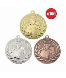 Pack de 100 Médailles Frappées 50mm Boxe - BS-DI5000.P.01 - BS-DI5000.P.02 - BS-DI5000.P.27 x100