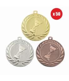 Pack de 50 Médailles Frappées 50mm Victoire - BS-DI5000.K.01 - BS-DI5000.K.02 - BS-DI5000.K.27 x50