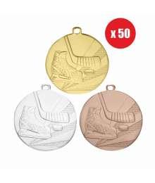 Pack de 50 Médailles Frappées 50mm Hockey - BS-D112L.01 - BS-D112L.02 - BS.D112L.26 x50