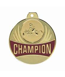Médaille Champion 50mm avec Pastille - F-Q020