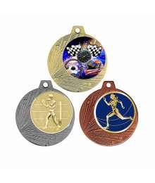 Médaille 70mm avec Pastille - F-Q001