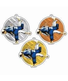 Exclusivité Médaille Acrylique 50mm Judo Femme - MDA00M89