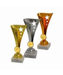 Trophée Economique Etoiles avec pastille - CH-TRC0216