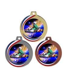 Médaille 70mm avec Pastille Couleurs Karting - F-Q018D - F-Q018A - F-Q018B CH40