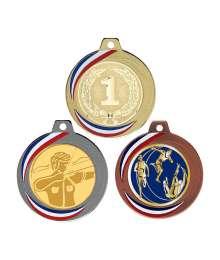 Médaille 70mm avec Pastille - F-Q018D - F-Q018A - F-Q018B