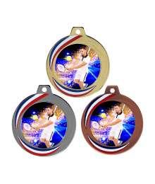 Médaille 70mm avec Pastille Couleurs Tennis Homme - F-Q018D CH56