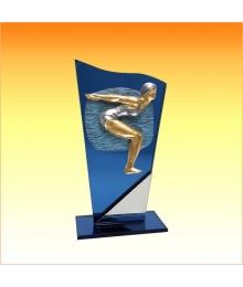 Trophées avec sujets NR Natation Femme 3753.NR38
