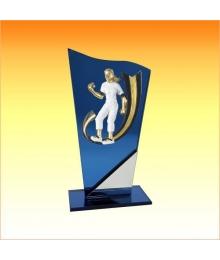 Trophée avec sujet P Pétanque Femme 3753P516