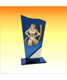 Trophée avec sujet P Bodybuilding Femme 3753P582ET1