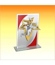 Trophée Verre avec sujet NJ Bowling 1801AET1C. NJ10
