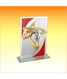 Trophée Verre avec sujet NJ Gymnastique Femme 1801BET1C. NJ28