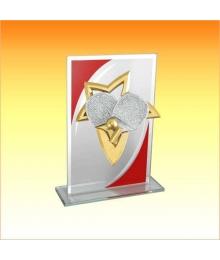 Trophée Verre avec sujet NJ Tennis de Table 1801CET1C. NJ51