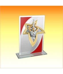 Trophée Verre avec sujet NJ Victoire 1801CET1C. NJ64