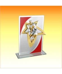 Trophée Verre avec sujet NJ Volley 1801C. NJ65