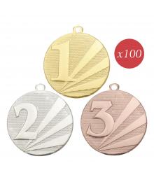 Pack de 100 Médailles Frappées Podium 7794 ø50mm
