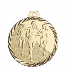 Médaille Frappée 50mm Course à Pied Feminin -F- NZ16