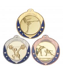 Médaille 70mm avec Pastille Gymnastique - F-052