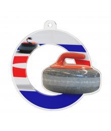 Médaille Acrylique 50mm Curling - MDA0010M22