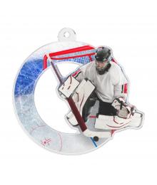 Médaille Acrylique 50mm Hockey Gardien - MDA0010M71