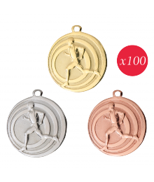 Pack de 100 Médailles Frappées 32mm Courses à pied - 7782