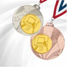 Médailles avec pastille Basket