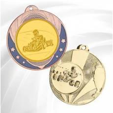 Médailles avec pastille Karting