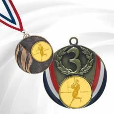 Médailles avec pastille Rugby