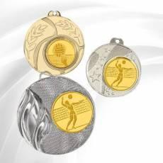 Médailles avec pastille Volley