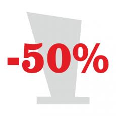 Trophées -50% Acryglass, verre, bois