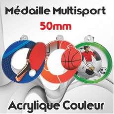 MÉDAILLES COULEUR 50MM