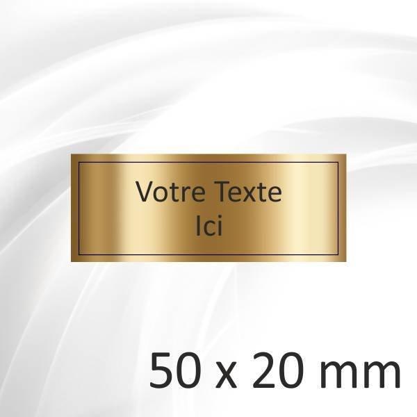 50x20mm - 2 lignes - 2.20€