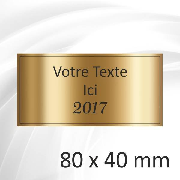 80x40mm - 4 lignes - 2.80€